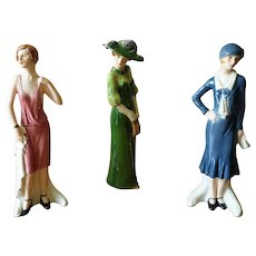 Vintage Goebel Fashions on Parade Figurines - Set of 3