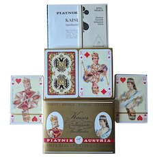 Vintage Piatnik Kaiser Jubilaum Imperial Playing Cards Double Deck Sealed