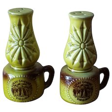 Vintage Luray Caverns Salt and Pepper Shakers