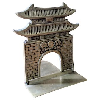 Vintage Brass Pagoda Bookend