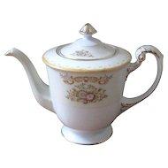 Vintage 1940's Sango Porcelain Floral Teapot and Sugar Bowl - Occupied Japan