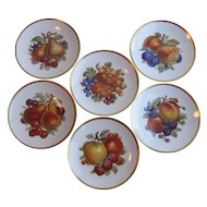 Vintage Mitterteich Bavarian Porcelain Fruit Plates - Set of 6