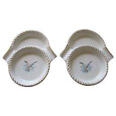 Vintage Tobacciana Ceramic Ashtray Coasters - Set of 2