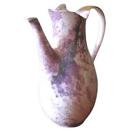 Vintage Lavender and Gold Splatter Coffeepot with Luster Glaze
