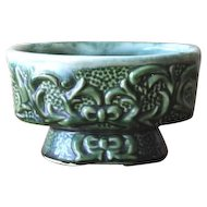 Vintage Ceramic Vine Relief Forest Green Planter