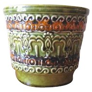 Vintage 1970s German Uebelacker Keramik Planter Pot