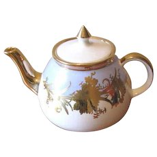 Vintage 1950s Gibsons Light Blue and Gold Teapot - England