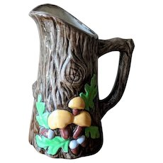 Mid Century Woodland Mushroom Ceramic Pitcher
