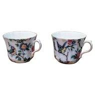 Vintage Chinoiserie Style Bone China Teacups England