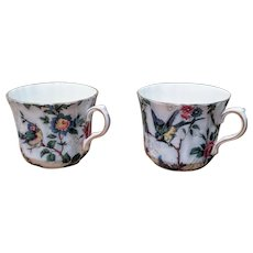 Vintage Chinoiserie Style Bone China Teacups England