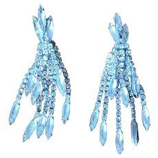 Vintage Long Rhinestone Dangle Earrings