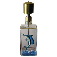 Vintage 1960's Continental Say When Sailfish Decanter