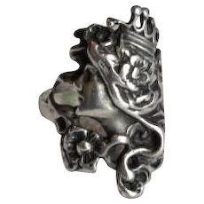 Vintage Sterling Silver Lady Face Ring