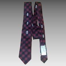 Vintage 1960's Red, Black and Gray Silk Skinny Tie