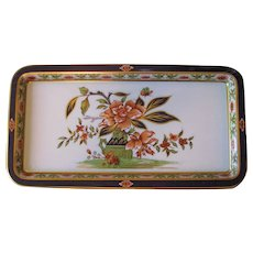 RESERVED - Vintage Daher Floral Painted Metal Serving Tray - Set of 2