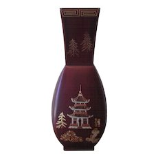 Vintage 1940's Occupied Japan Lacquerware Vase by Maruni