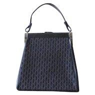 Vintage 1960s Black Day Purse Handbag