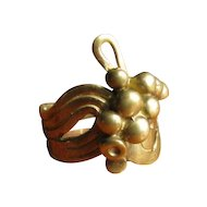Vintage Modernist Brass Ring