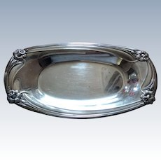 Vintage 1847 Rogers Bros. Silverplate Daffodil Oval Serving Dish