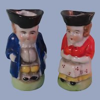"""Darling Little 2"""" Toby Jugs for your Lucky Doll"""