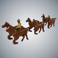 Tiny Toy - Metal Horses with Cowboy