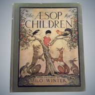 """Lovely Illustrated Antique Childrens Book  """"The Aesop for Children"""""""