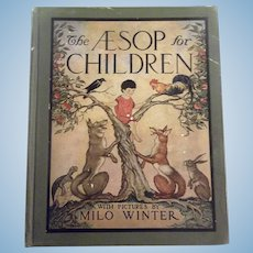 "Lovely Illustrated Antique Childrens Book  ""The Aesop for Children"""