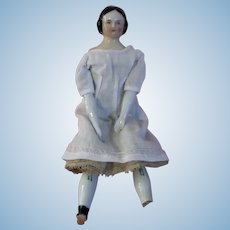 """Lovely But Imperfect Antique 9"""" China Head Doll"""