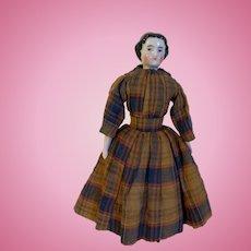 Wonderful All Original Antique German Kister China Head Doll c1860s