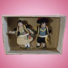 Teeny Tiny Carl Horn Spanish Couple in Original Box