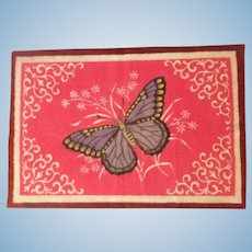 Bright and Cheerful Butterfly Dollhouse Rug