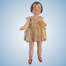 Poor Little 1920s Pink Tint Flapper Girl with Boo Boo Arm