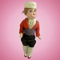 "Handsome Factory Original Antique French 6-1/2"" Bisque Head Boy Doll"