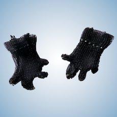 Very Hard to Find Original Vintage Black Cissette Doll Gloves