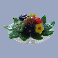 Fabulous Czech Glass Flower Arrangement