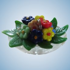Fabulous Czech Glass Flower Arrangement