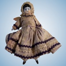 Sweet All Original Antique Low Brow China Head Dollhouse Doll