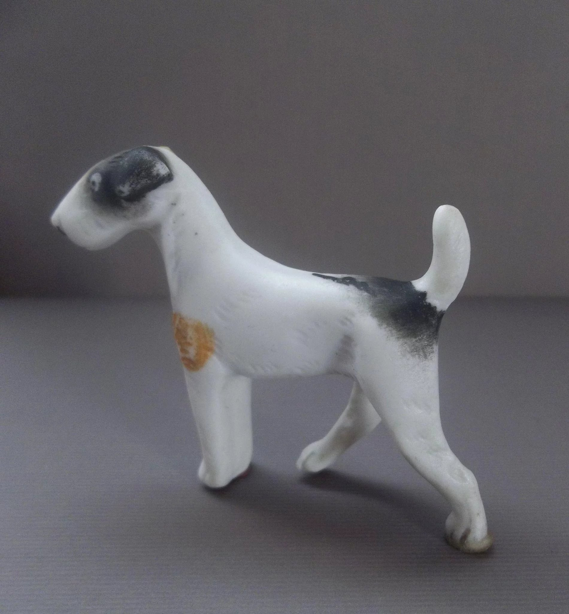 Precious All Bisque Wire-haired Fox Terrier for your Dollhouse Dolls ...