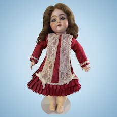Beautiful Vintage Antique Doll Dress Drop with Waist Red for your Bebe Bleuette Jumeau Bisque Dolls