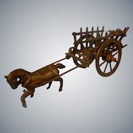Tiny Metal Simon & Rivollet Horse Drawn Cart Toy for your Lucky Doll