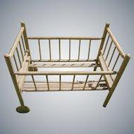 Wonderful Antique Wooden Crib c1800s - TLC - Summer Sale - Final Markdown!