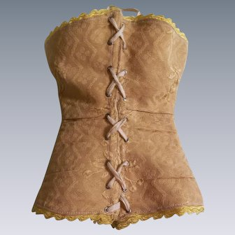 Gorgeous Gold Corset for French Fashion Doll