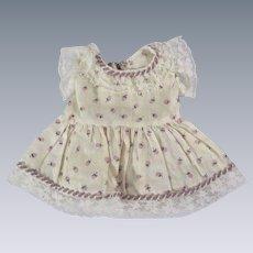 Darling Vintage Floral Doll Dress