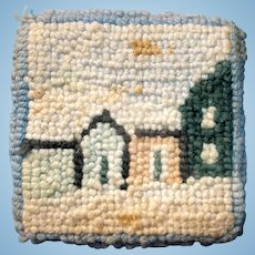 """Small 3""""x3"""" Hand Hooked Dollhouse Rug"""