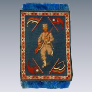 Attractive Dollhouse Rug with Chinese Soldier