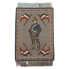 Handsome Dollhouse Rug with German Soldier - Red Tag Sale Item