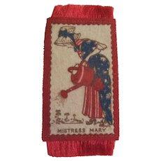 Mistress Mary - Nursery Rhyme Doll House Rug c1900s - Red Tag Sale Item