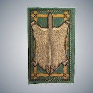 Wonderful Rustic Badger Pelt Dollhouse Rug