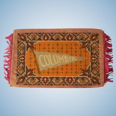 Columbia Pennant Dollhouse Rug for your Collegiate Dolls