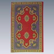 A Very Beautiful Antique Oriental Design Dollhouse Rug